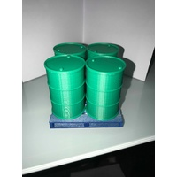 1:14 Scale 205 Ltr Green Drums With Pallet